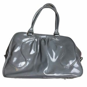 LULULEMON Vintage Gray Shiny Gym Duffel Bag